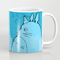 ghibli Mugs featuring Celebrating Ghibli (fan art) by Seth T. Hahne