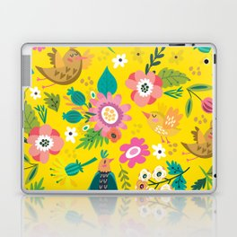 The yellow vision of the little bird Laptop & iPad Skin