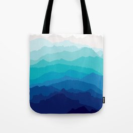 Blue Mist Mountains Tote Bag