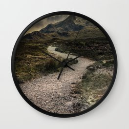 Mountains o Skye Island Wall Clock