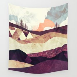 Plum Fields Wall Tapestry