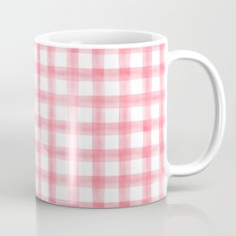 watercolor plaid - pink Coffee Mug