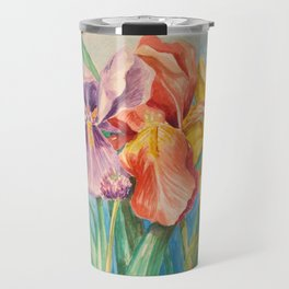 Irises and Chives Travel Mug