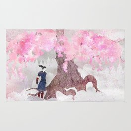 Tengami - Winter Cherry Tree (Portrait) Rug