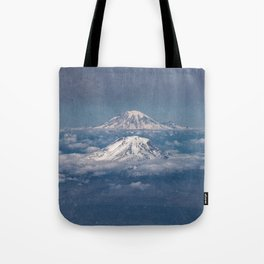 Mount Adams Mt Rainier - PNW Mountains Tote Bag