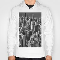 chicago Hoodies featuring Chicago by Claude Gariepy