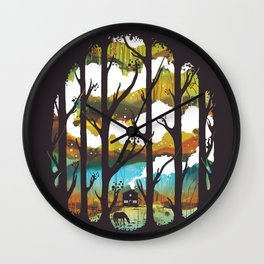A Magical Place Wall Clock