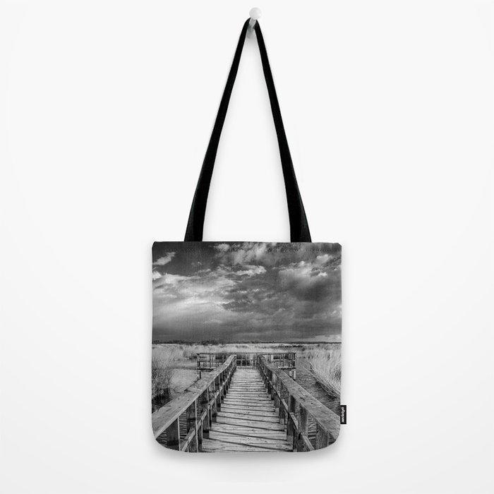 """Daimiel"" Bridge at the lake Tote Bag"