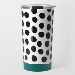 "Elegant Handpainted Polka Dots with ""Shaded Spruce"", Fall, Autumn Color Travel Mug"