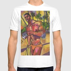 Guayacanes: Jeison in a Speedo White MEDIUM Mens Fitted Tee