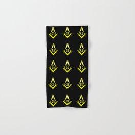 Square and Compasses – masonic, escauadera,compas,freemasonry, freemason. Hand & Bath Towel