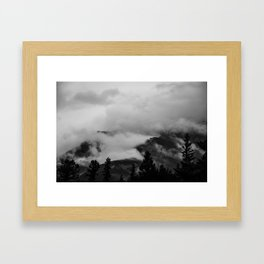 Darkness Unfolds Framed Art Print