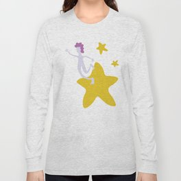Reach for the Stars - Yellow Long Sleeve T-shirt