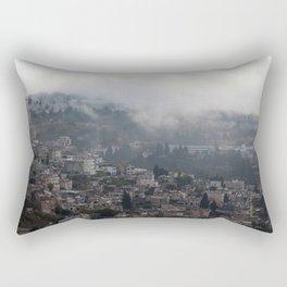 Nazareth, Israel on a rainy morning Rectangular Pillow