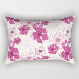 Pink Poppy Bash Rectangular Pillow