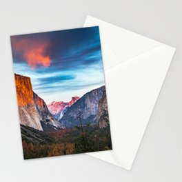 Yosemite tunnel view at sunset Stationery Cards
