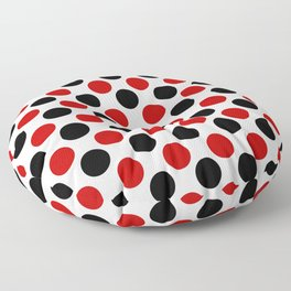 RED BLACK CIRCLE Floor Pillow