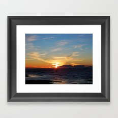 Sublime Sunset on the Sea Framed Art Print