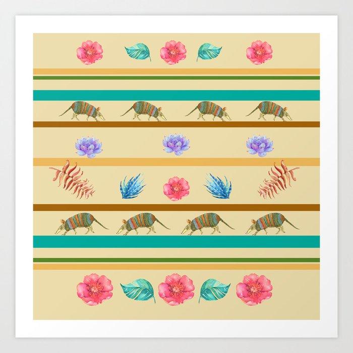 Armadillo Pattern Art Print