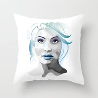 gemma correll Throw Pillows featuring Gemma by Ketina
