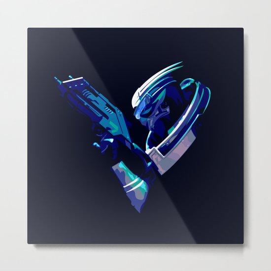 Mass Effect: Garrus Vakarian Metal Print