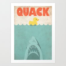 Jaws Rubber Duck Art Print