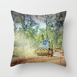 Heavy Industry Roadwork Roller Throw Pillow