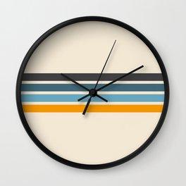 Vintage Retro Stripes Wall Clock
