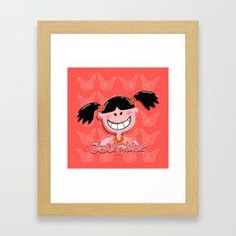 Josephine Orange Framed Art Print