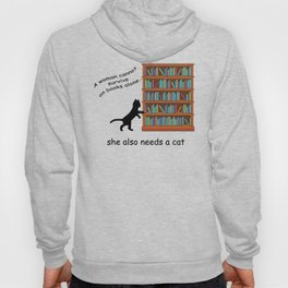 Cats and Books Hoody
