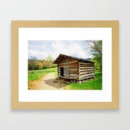 Historic Log Cabin Framed Art Print