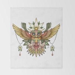 Sun Owl Throw Blanket