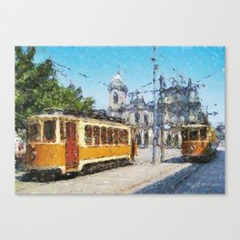 Old tramways V Canvas Print