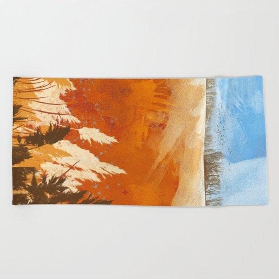 Golden Afternoon Beach Towel