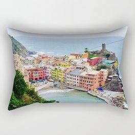 Cinque Terre Colors Rectangular Pillow