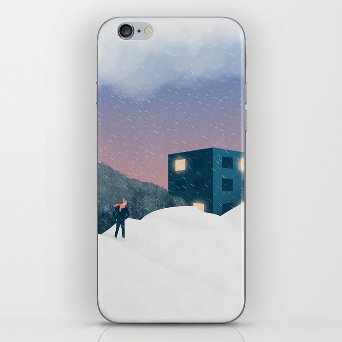 Winter evening iPhone Skin