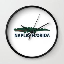 Naples Beach - Florida. Wall Clock