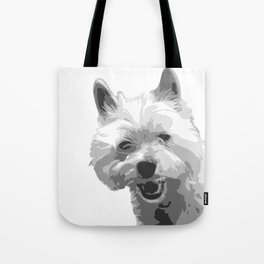The Happy Westie Tote Bag