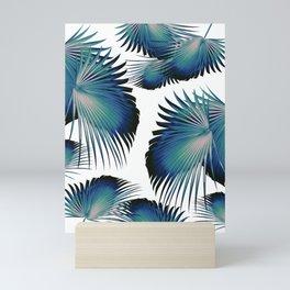 Fan Palm Leaves Paradise #1 #tropical #decor #art #society6 Mini Art Print