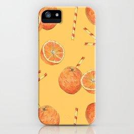 orange juice _ light iPhone Case