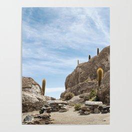 Incahuasi Island, Salar de Uyuni, Bolivia Poster