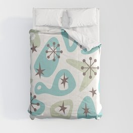Retro Mid Century Modern Spaced Out Composition 332 Comforters