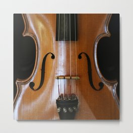 Close-up of Beautiful Violin Black Background #decor #society6 #buyart Metal Print