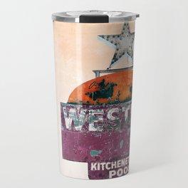 Vintage Neon Sign - The Western - Tucson Travel Mug