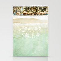 forever young Stationery Cards featuring Forever Young by Jenndalyn