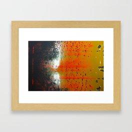 Bio-morphic Acid Wash Framed Art Print