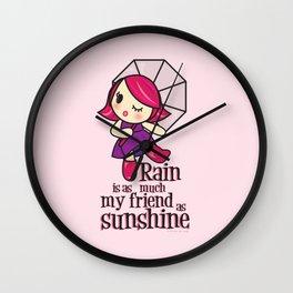 Rain & Sunshine Wall Clock