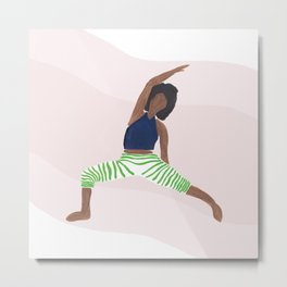 Reverse Warrior Yoga Pose Metal Print