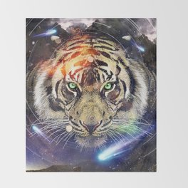 Space Tiger Throw Blanket