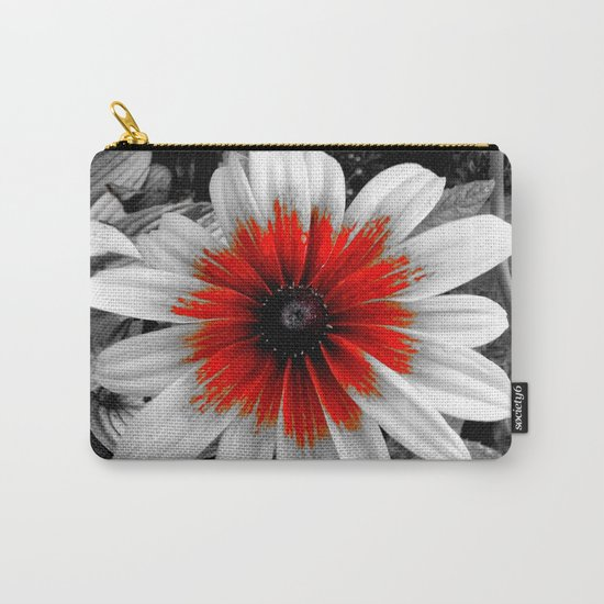 Flower | Flowers | Red Stroke Gaillardia | Red and White Flower | Nadia Bonello Carry-All Pouch